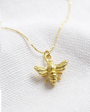Matt Gold Bee Necklace