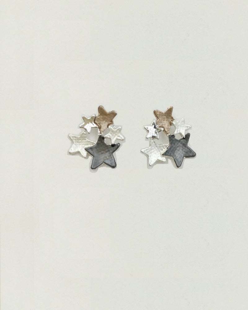 Metallic Stars Earrings