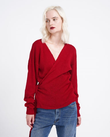 Scarlet Wrap Around Jumper