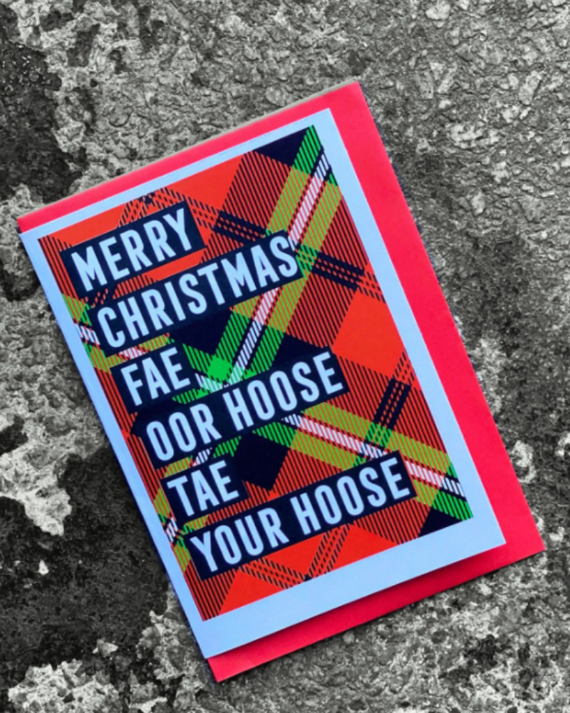 Merry Christmas Fae Oor Hoose to Your Hoose Christmas Card