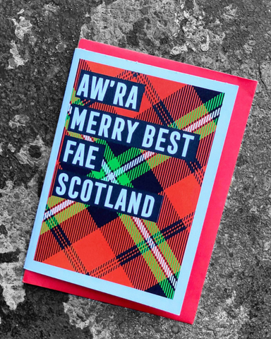 Aw'ra Merry Best Fae Scotland Christmas Card