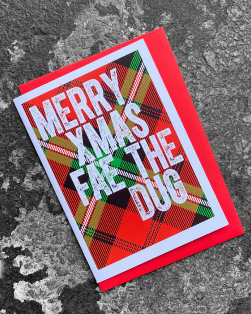Merry Christmas Fae The Dug Christmas Card