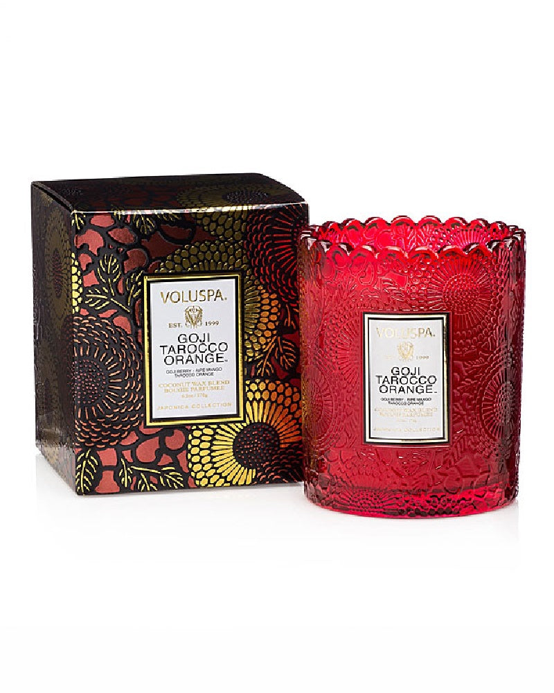 Goji & Tarocco Orange Scallop Boxed Candle