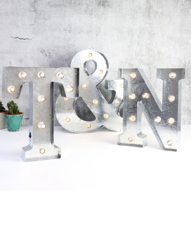 Industrial Metal Letter Light