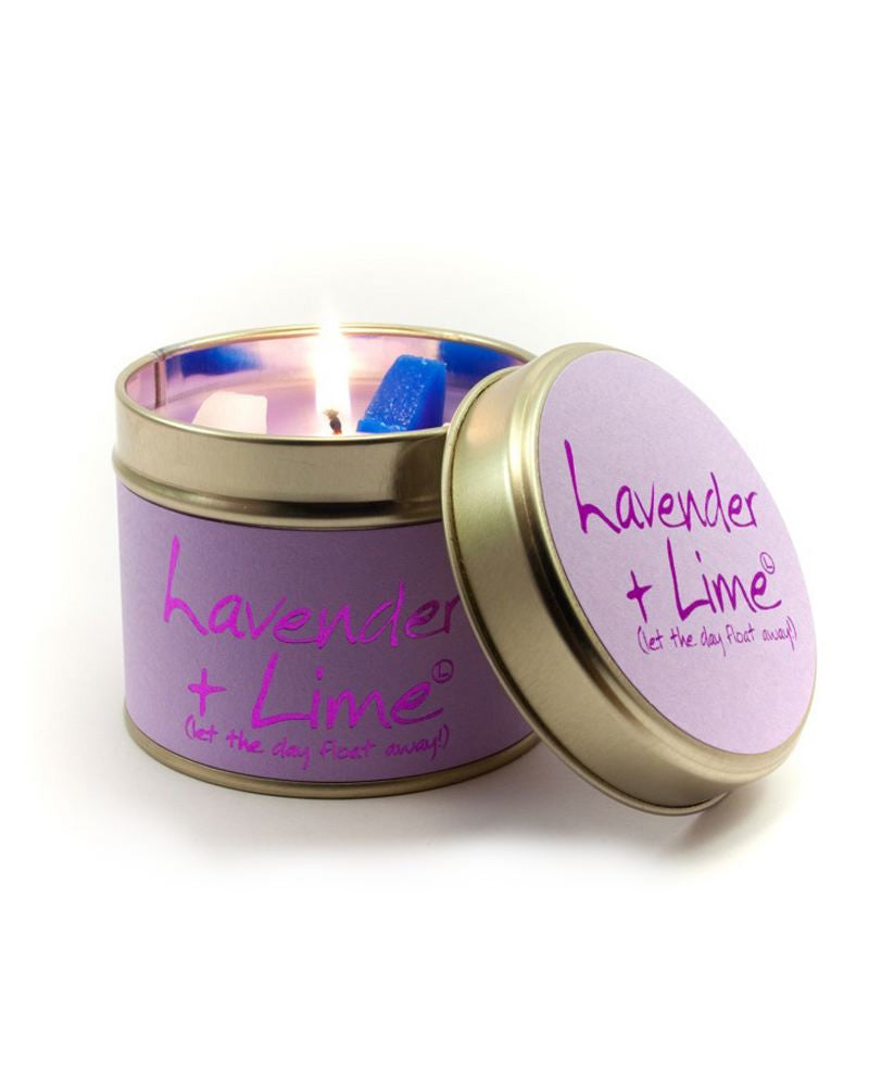Lavender and Lime Tin Scented Candle