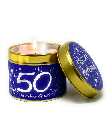 Happy 50th Birthday Candle