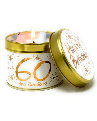 Happy 60th Birthday Candle