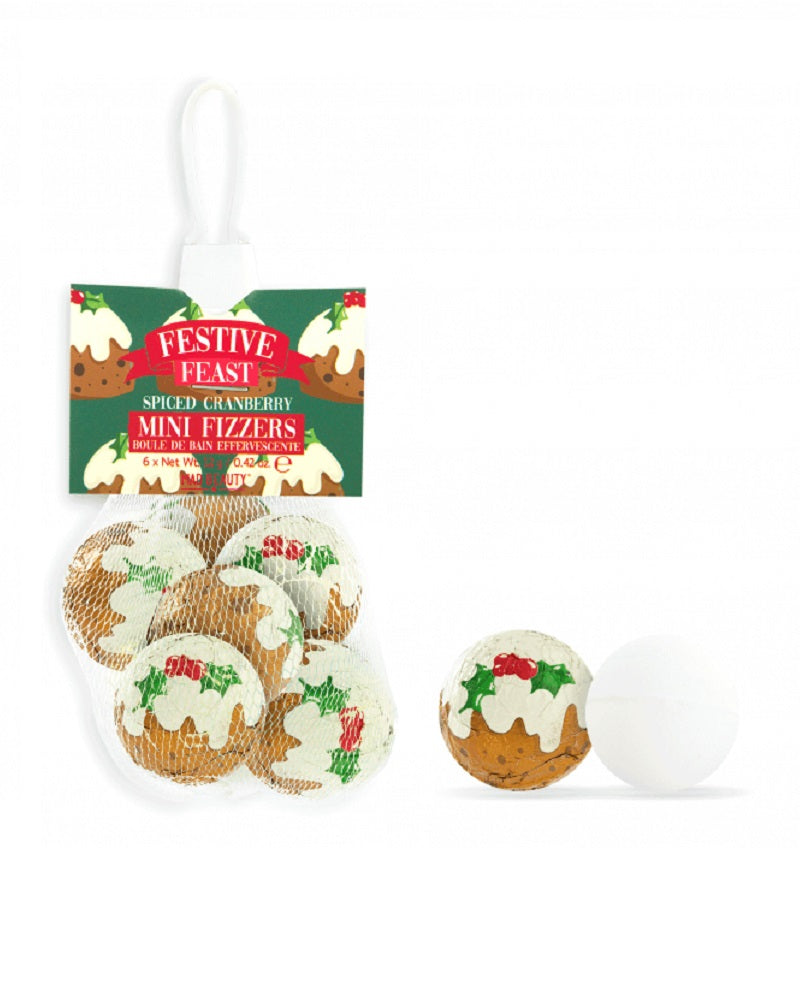 Christmas Pudding Mini Bath Fizzers