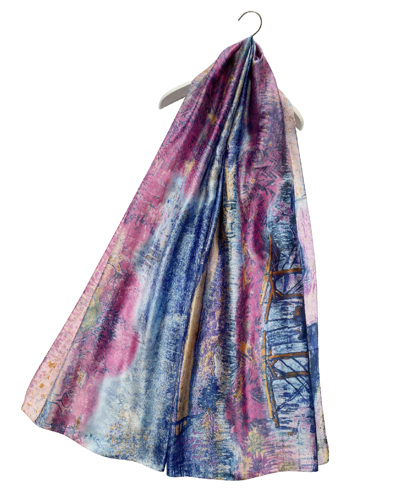 Art Impressionists Meadow Print Silk Scarf