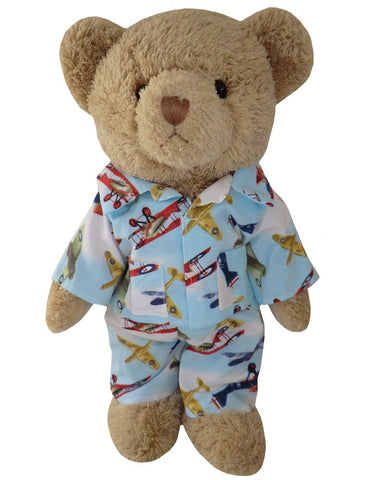Teddy In Vintage Plane Pyjamas