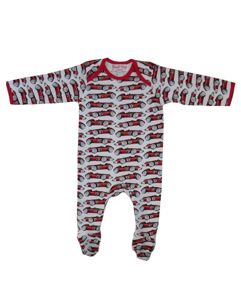 Race Cars Baby Jumpsuit