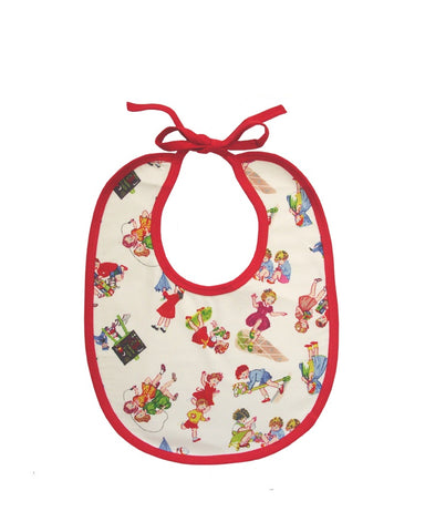 Girls At Play Print Baby Bib