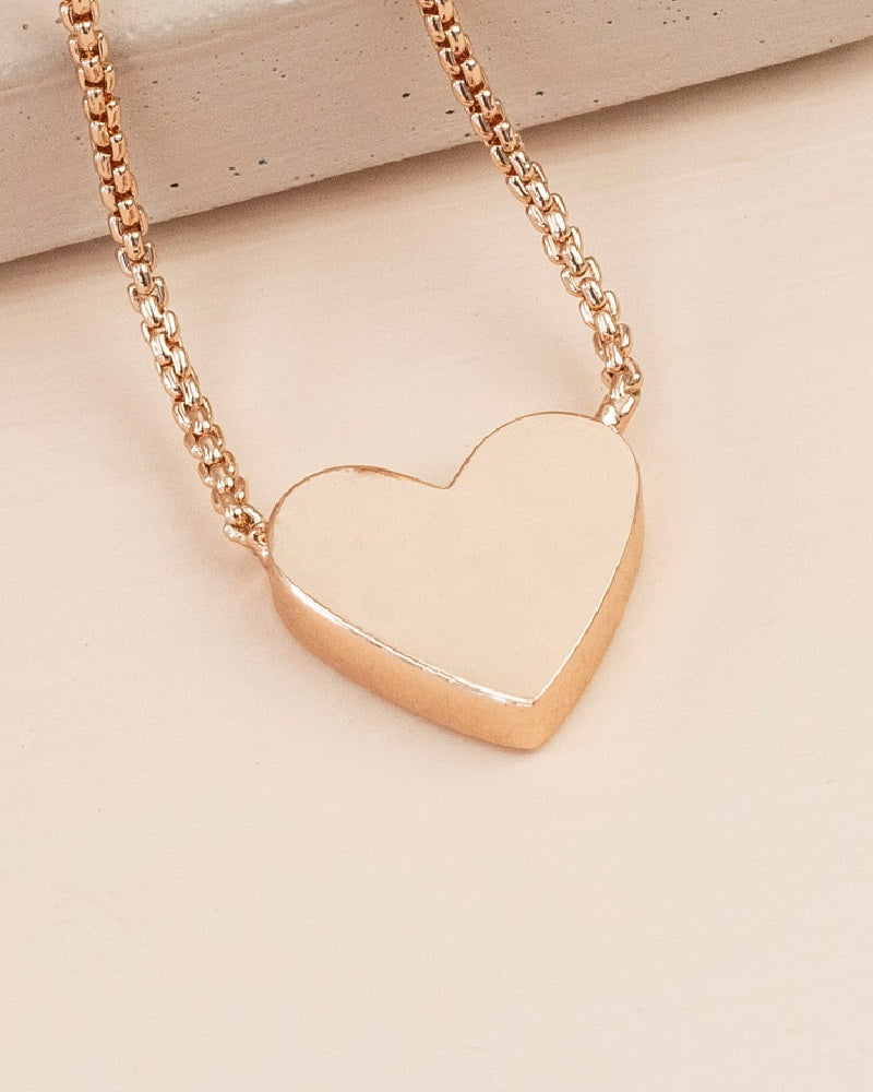 Box Chain Heart Necklace Assorted