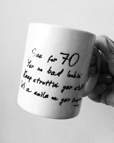 70th Birthday Glasgow Mug