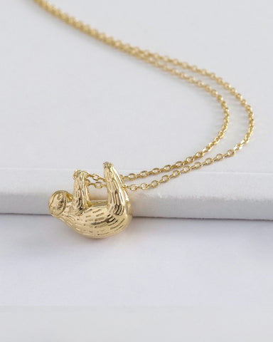 Gold Sloth Necklace