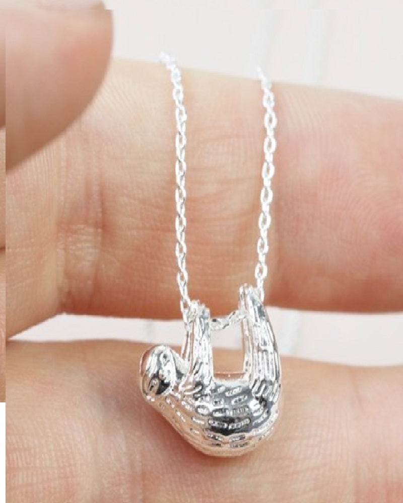 Silver Sloth Necklace
