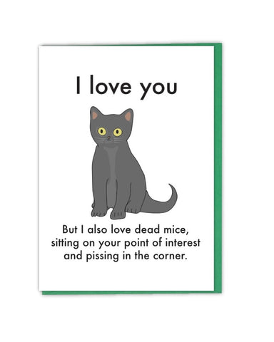 I Love You, Cat ... Greetings Card