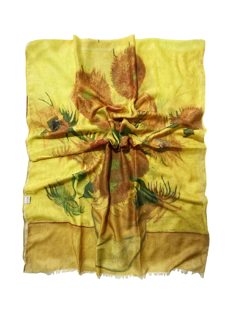 Van Gogh Twelve Sunflowers Scarf
