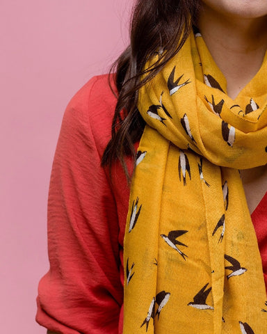 Swallow Print Scarf Assorted