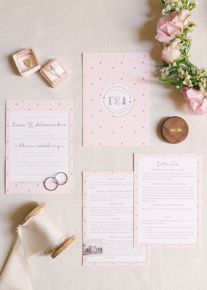 Bespoke Stationery for a Fairytale French Wedding