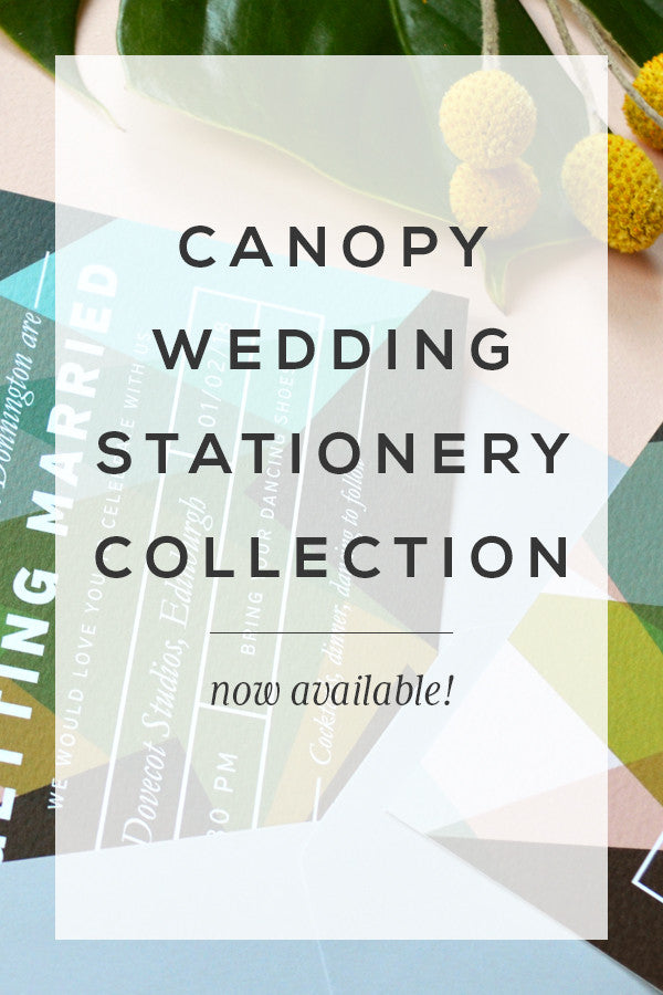New Wedding Stationery Collection! Modern Art inspired Canopy