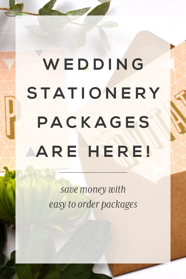Wedding Stationery Packages are here!