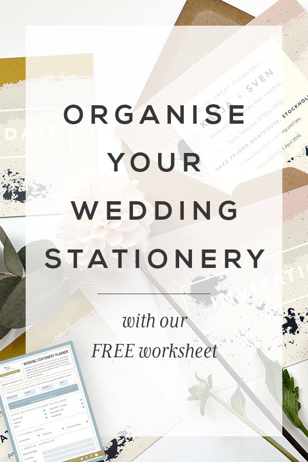 Plan your wedding stationery with our FREE worksheet