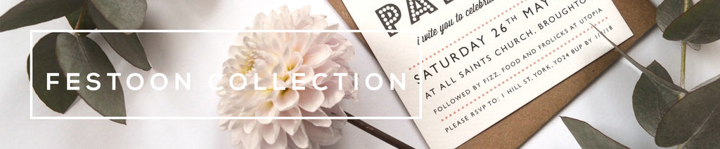 Personalised Wedding Stationery Collection | Festoon