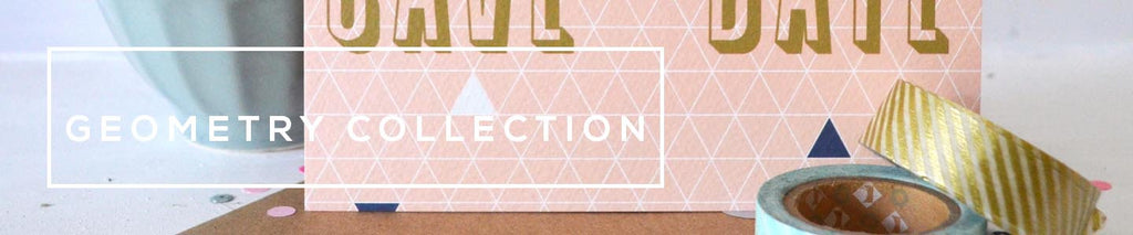 Personalised Wedding Stationery Collection | Geometry