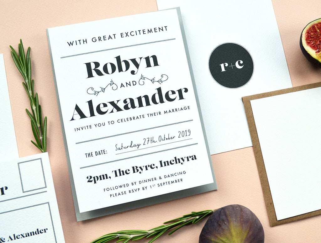 Modern Personalised Wedding Stationery | Gin