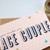 Geometry Ace Couple Greetings Card