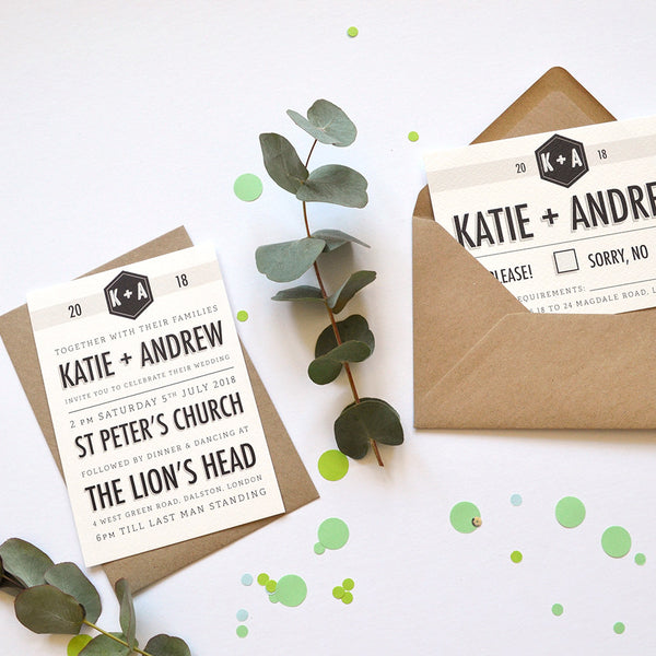 Minimalist Wedding Stationery Sample Pack