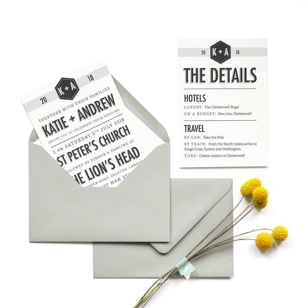 Personalised Wedding Invitation Package | Banner