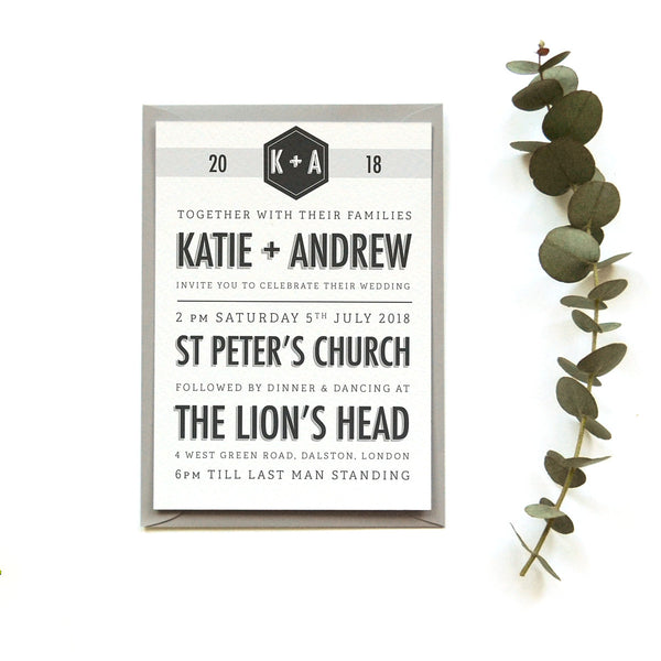 Personalised Wedding Invitation | Banner