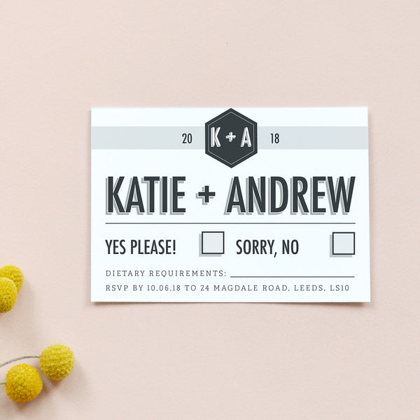 Personalised Wedding RSVP Card | Banner