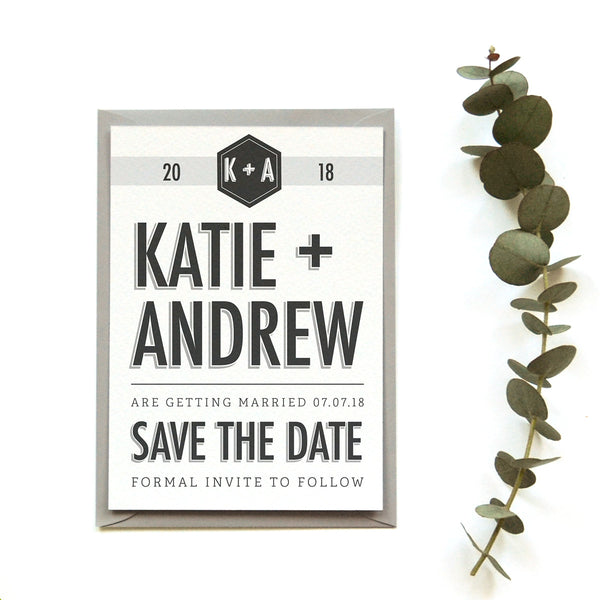 Personalised Wedding Save the Date Card | Banner