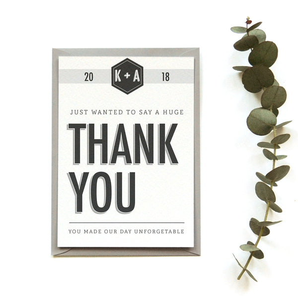 Personalised Wedding Thank you Card | Banner