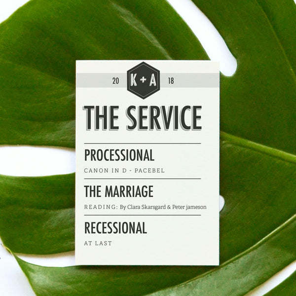 Personalised Wedding Order of Service | Banner