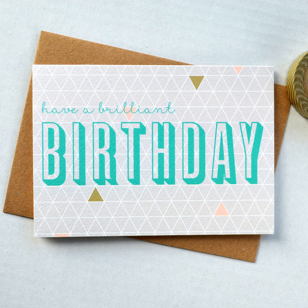 Geometry Birthday Greetings Card