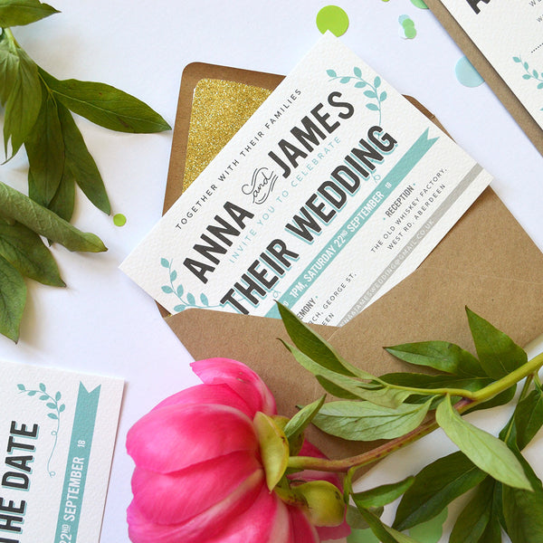 Bourbon | Boho Wedding Invitation Sample Pack