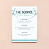 Personalised Wedding Order of Service | Bourbon