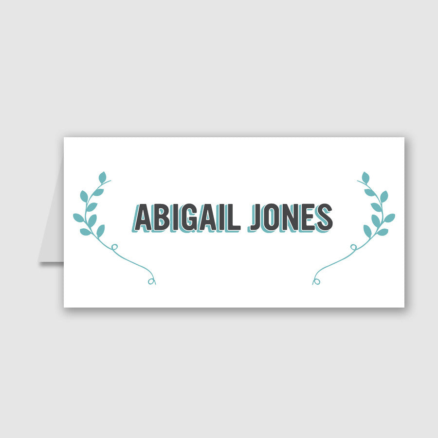 Personalised Wedding Place Cards | Bourbon