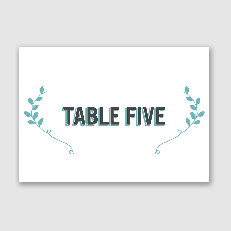 Personalised Wedding Table Name | Bourbon