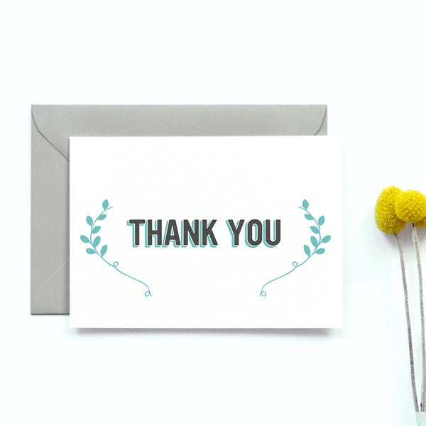 Personalised Wedding Thank you Card | Bourbon