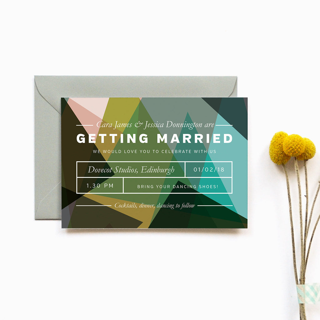 Modern Personalised Wedding Invitation | Canopy