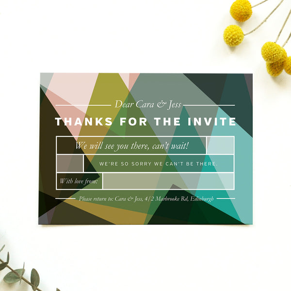 Modern Personalised Wedding RSVP | Canopy