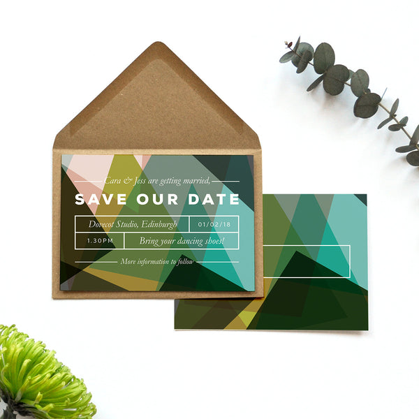 Modern Personalised Wedding Save the Date | Canopy
