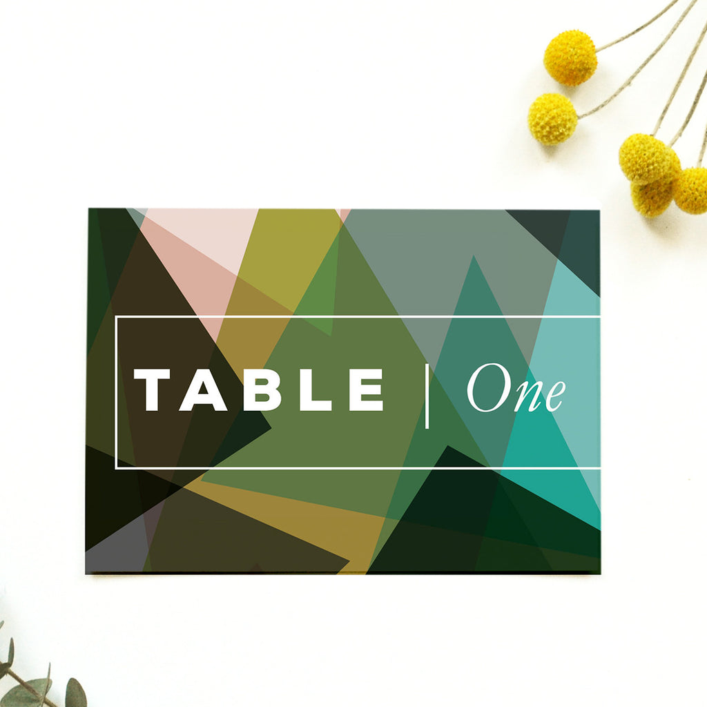 Personalised Wedding Table Name | Canopy