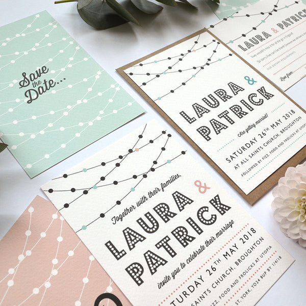 Modern Wedding Invitation | Festoon Personalised wedding stationery