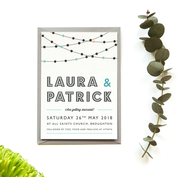 Personalised Wedding Save the Date Card | Festoon